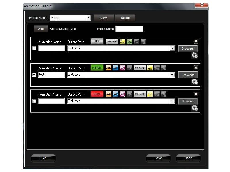 Foto Software Vorschau Speicheroptionen Profile