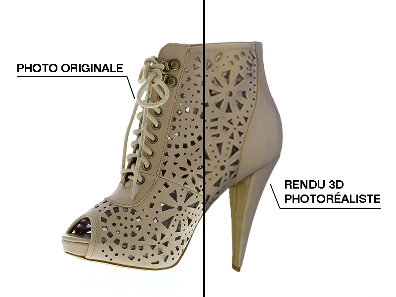 Modell 3D Ansicht Schuh Rendering