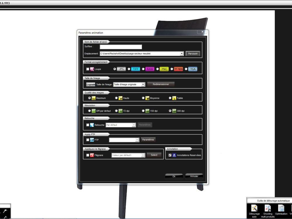 PackshotCreator-Software für Möbelstücke