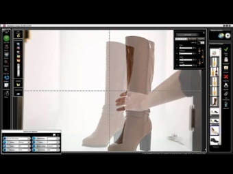 installation of a photo studio for shoes photography