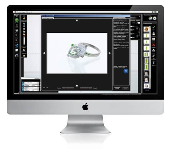how to photograph jewelry for websites using a software?