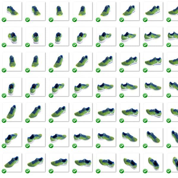 Multi-View-Bild von Schuhen