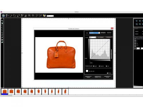 Bildschirmvorschau Handtasche Software Foto Bearbeitung Editing