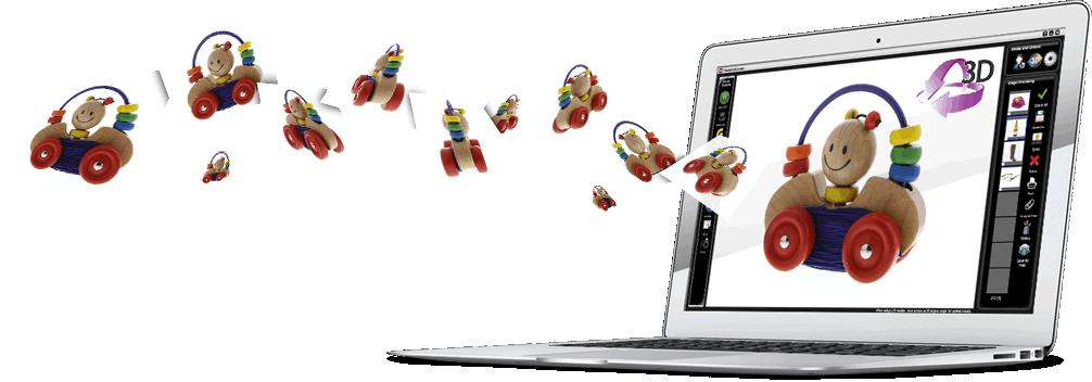 Software PackshotCreator für Mac Produktfotografie interaktiv