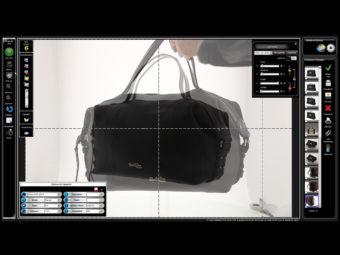 Packshot von Lederwaren im Studio