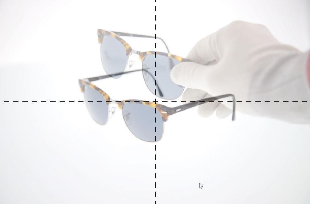 Tools für die Positionierung von Brillen im Fotostudio