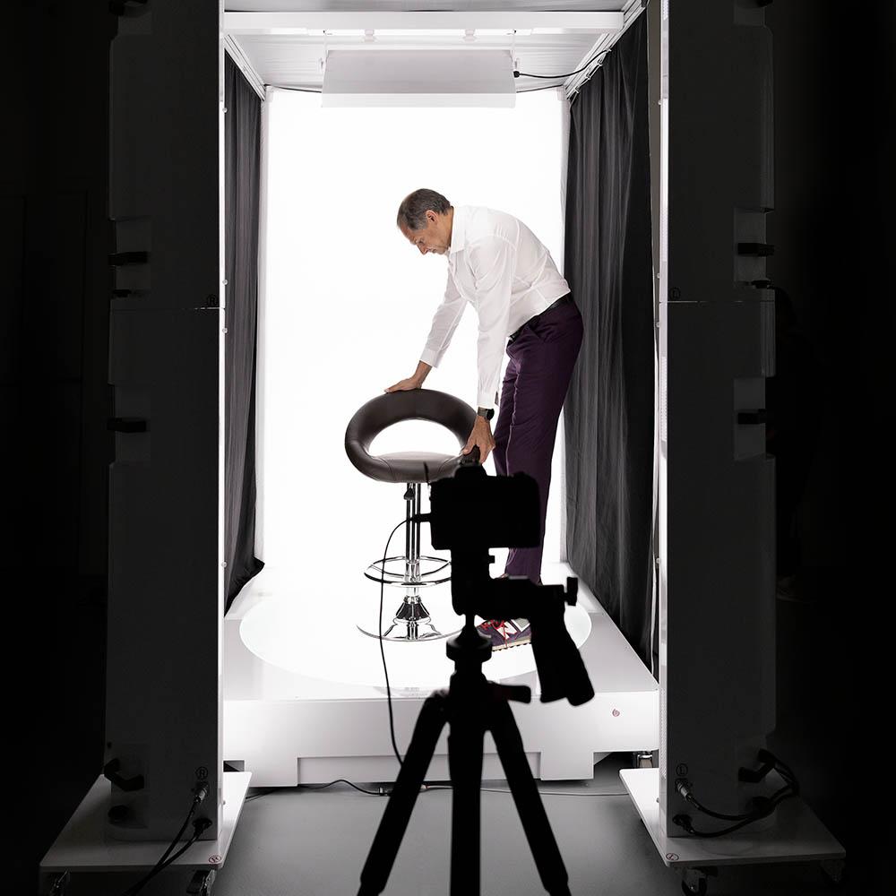 Winkeln und 360°-Animationen von Produkten bis zu 200 Kilo