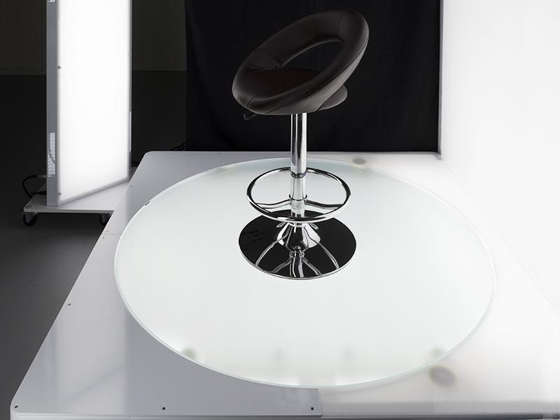 Drehteller mit Hintergrundbeleuchtung für die Fotografie von großen und schwere Produkte