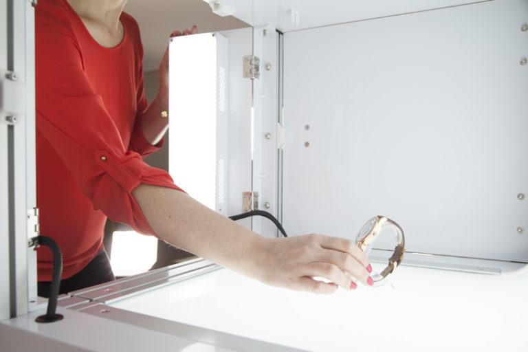 packshot mini verlichting systeem en 4 LED belichting zones