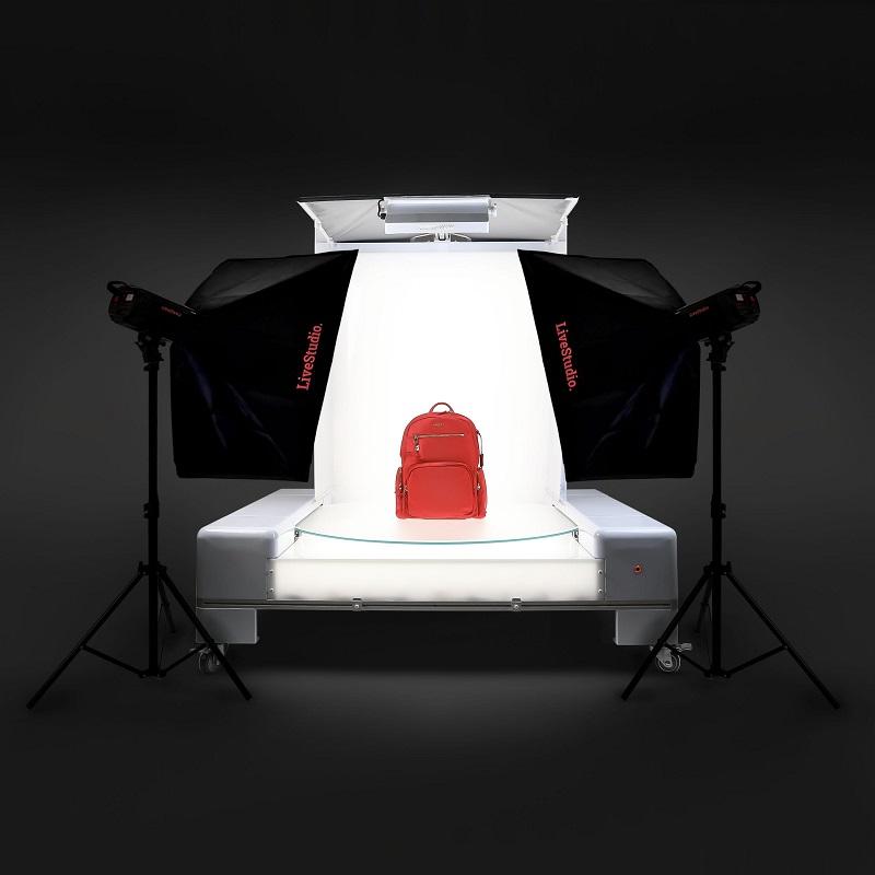 LiveLight-System kombiniert mit PackshotPro 360