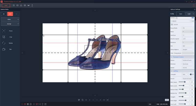Platzieren, positionieren und zentrieren Sie das Schuhpaar