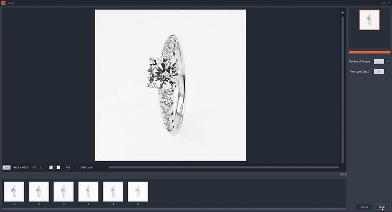 Die automatische Zusammenstellung der Aufnahmen Ihrer Ringe
