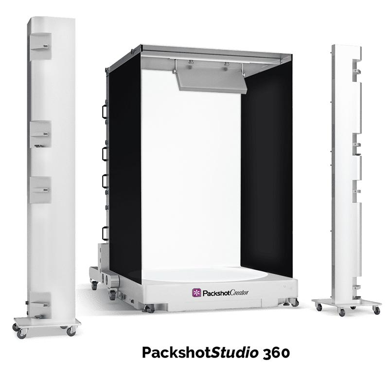 vollständiges Sortiment von 360°-Drehscheiben und -Fotostudios für 360°-Produktanimationen