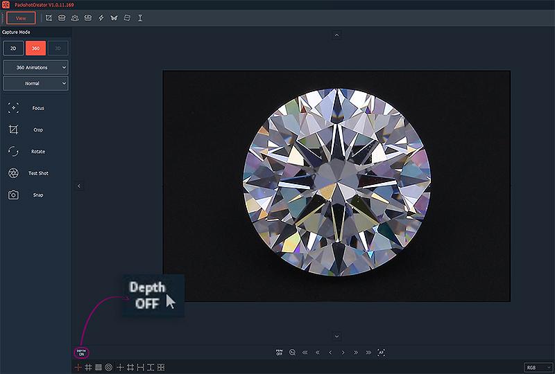 wie man einen Diamanten für eine Brillanzansicht richtig fokussiert