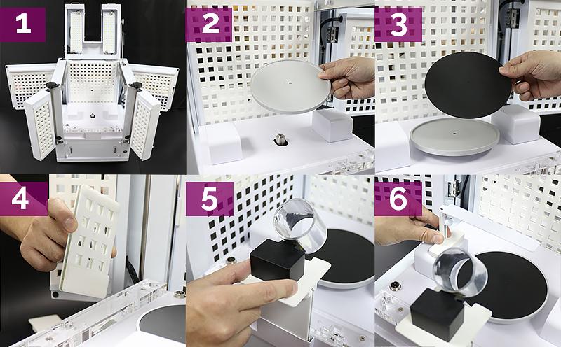 Einrichten des Loose Diamond-Kits zur Darstellung des Diamantenfeuers